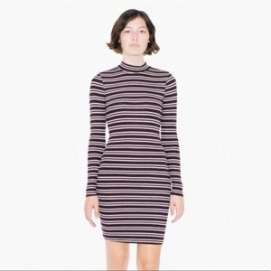 American Apparel Ribbed Long Sleeve Mini Dress
